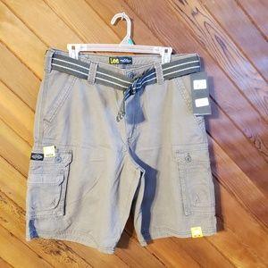 NWT Lee cargo shorts size 34 color Vapor
